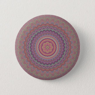 Chapa Redonda De 5 Cm Mandala geométrica del Hippie