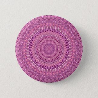 Chapa Redonda De 5 Cm Mandala rosada de la estrella