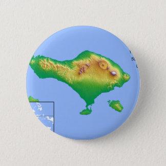 Chapa Redonda De 5 Cm Mapa de Bali