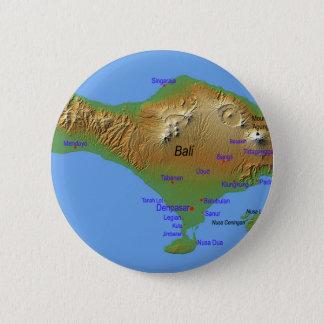 Chapa Redonda De 5 Cm Mapa de Bali Holliday