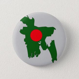 Chapa Redonda De 5 Cm Mapa de la bandera de Bangladesh