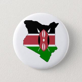Chapa Redonda De 5 Cm Mapa de la bandera de Kenia del mismo tamaño