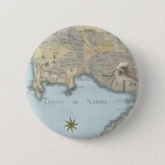 Chapa Redonda De 5 Cm Mapa del golfo de Nápoles y de los alrededores