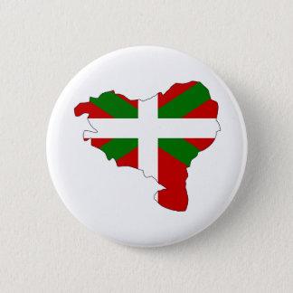 Chapa Redonda De 5 Cm Mapa vasco de la bandera del mismo tamaño
