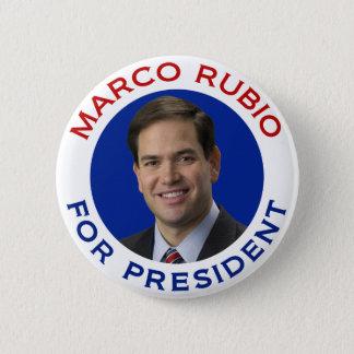 Chapa Redonda De 5 Cm Marco Rubio para el presidente