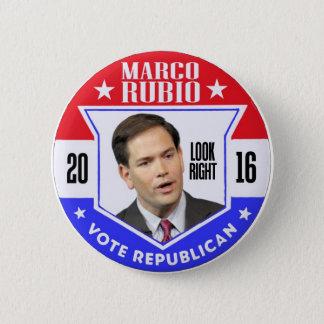 Chapa Redonda De 5 Cm Marco Rubio para el presidente 2016