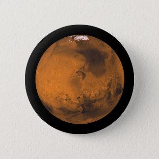 Chapa Redonda De 5 Cm Marte el planeta rojo en espacio exterior