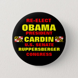 Chapa Redonda De 5 Cm Maryland para Obama Cardin Ruppersberger