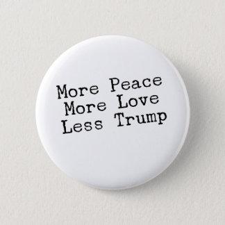 Chapa Redonda De 5 Cm Más paz más amor menos regalo de AntiTrump del
