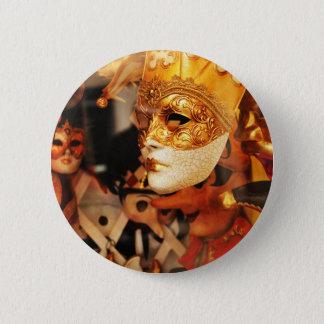 Chapa Redonda De 5 Cm Máscaras venecianas