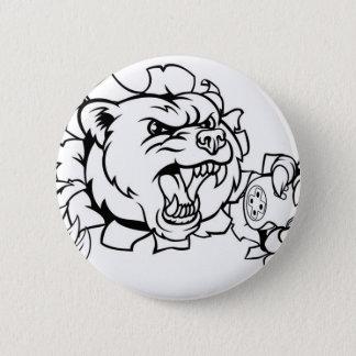 Chapa Redonda De 5 Cm Mascota de Esports del oso