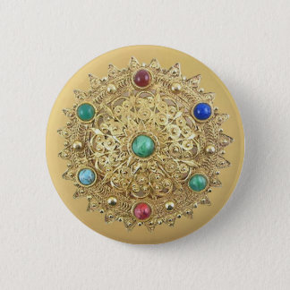 Chapa Redonda De 5 Cm Medallón Jeweled