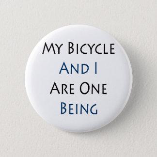 Chapa Redonda De 5 Cm Mi bicicleta y yo somos una que es