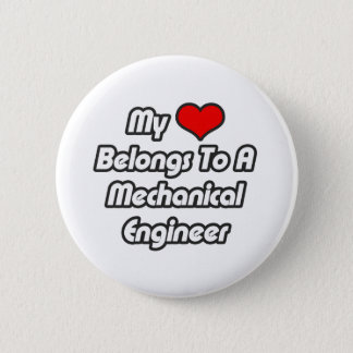 Chapa Redonda De 5 Cm Mi corazón pertenece a un ingeniero industrial