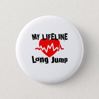 Chapa Redonda De 5 Cm Mi línea de vida salto de longitud se divierte