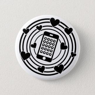 Chapa Redonda De 5 Cm ¡Mi teléfono es el centro de mi universo!