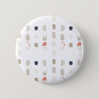 Chapa Redonda De 5 Cm Modelo abstracto de las formas en los colores en