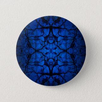 Chapa Redonda De 5 Cm Modelo agrietado azul de la pared