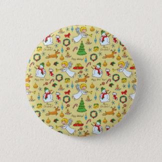 Chapa Redonda De 5 Cm Modelo del navidad