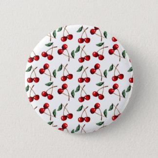 Chapa Redonda De 5 Cm Modelo del rojo cereza