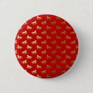 Chapa Redonda De 5 Cm Modelo elegante del oro del caballo mecedora del