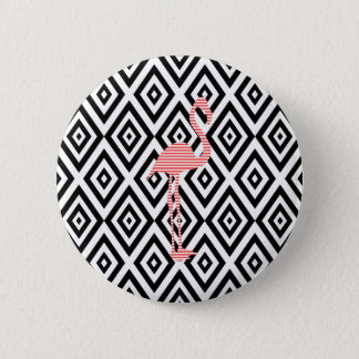 Chapa Redonda De 5 Cm Modelo geométrico abstracto - negro - flamenco