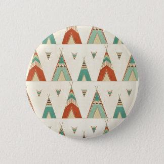 Chapa Redonda De 5 Cm Modelo geométrico de la tienda de los indios