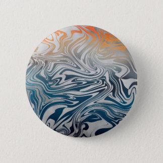 Chapa Redonda De 5 Cm Modelo líquido de plata abstracto