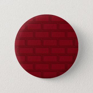 Chapa Redonda De 5 Cm Modelo rojo fresco de la pared de ladrillos del