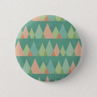 Chapa Redonda De 5 Cm Modelo verde azulado del triángulo del paso el |