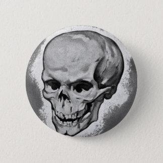 Chapa Redonda De 5 Cm Monstruo 'Skull del vintage del kitsch