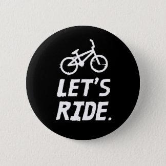 Chapa Redonda De 5 Cm Montemos el humor del ciclista de la ciudad y de
