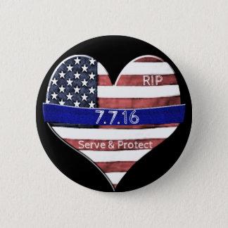 Chapa Redonda De 5 Cm Monumento de la policía de Dallas