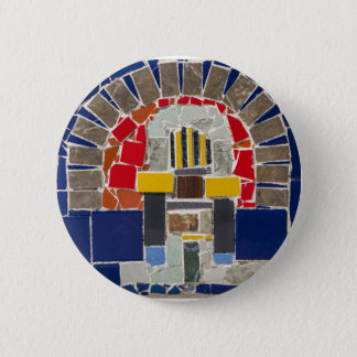 Chapa Redonda De 5 Cm Mosaico