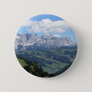 Chapa Redonda De 5 Cm Mountain View de las dolomías italianas en el