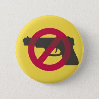 Chapa Redonda De 5 Cm Muestra del símbolo del Anti-Arma de la