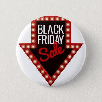 Chapa Redonda De 5 Cm Muestra negra de la flecha de la venta de viernes