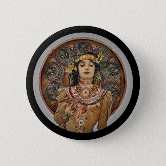 Chapa Redonda De 5 Cm Mujer con el vidrio de Champán