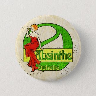 Chapa Redonda De 5 Cm Mujer de Ophelie del ajenjo en vestido rojo
