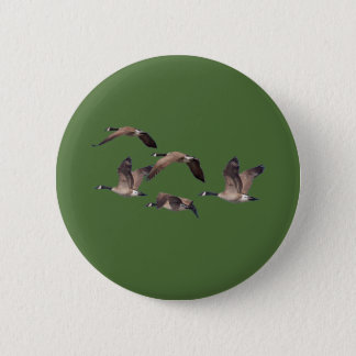 Chapa Redonda De 5 Cm Multitud de gansos salvajes