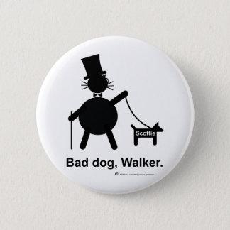 Chapa Redonda De 5 Cm Mún caminante del perro