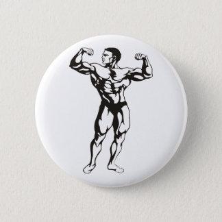 Chapa Redonda De 5 Cm Músculos del hombre de la aptitud