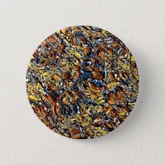 Chapa Redonda De 5 Cm Naranja y extracto azul