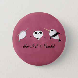 Chapa Redonda De 5 Cm ¡Narwhal más panda!
