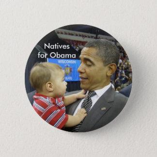 Chapa Redonda De 5 Cm Naturales para Obama