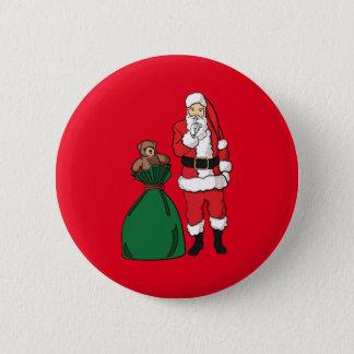 Chapa Redonda De 5 Cm Navidad Papá Noel