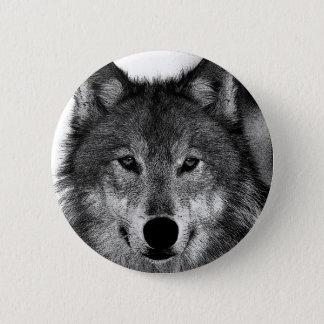 Chapa Redonda De 5 Cm Negro y ilustraciones de White Wolf