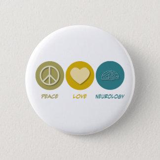 Chapa Redonda De 5 Cm Neurología del amor de la paz