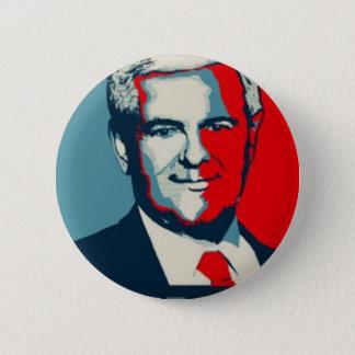 Chapa Redonda De 5 Cm Newt Gingrich 2012