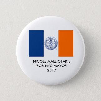 Chapa Redonda De 5 Cm Nicole Malliotakis para alcalde Button de New York